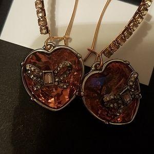 Betsey Johnson Jewelry - Betsey Johnson rose gold tone heart gem nwt